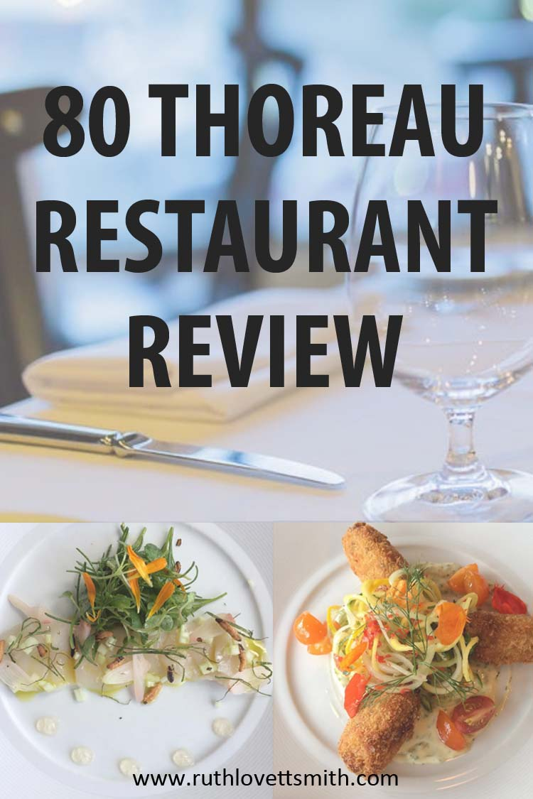80 Thoreau Concord MA Restaurant Review Pin