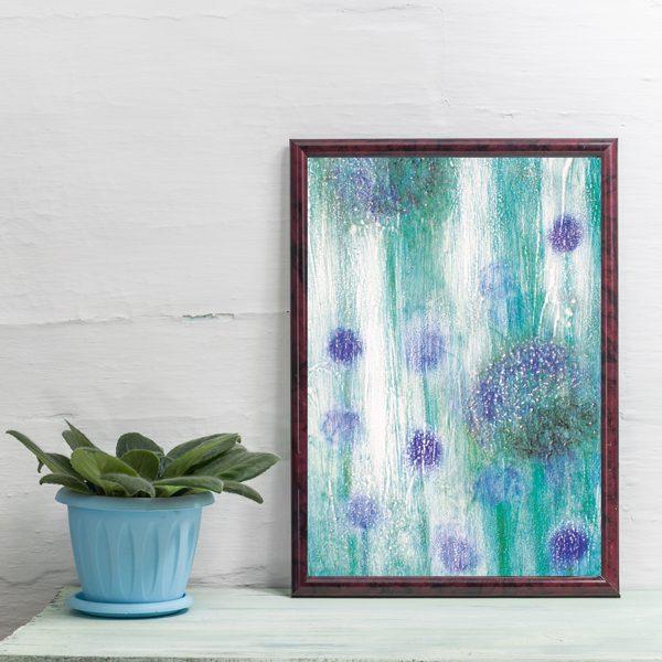 Alliums Print Framed