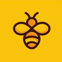 Bee Logo Design Illustration
