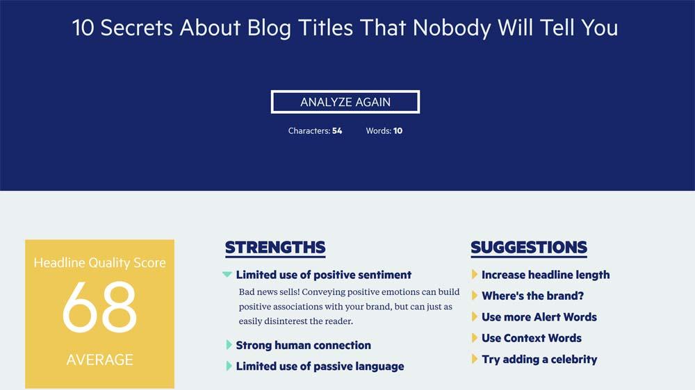Blog Title Generator and Analyzer