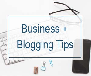 Business and Blogging Tips Sidebar