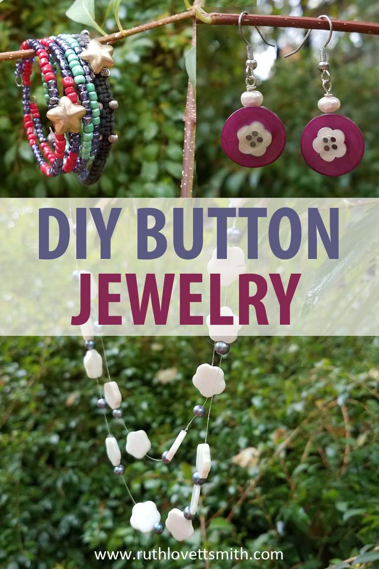 DIY Button Jewelry + Button Crafts