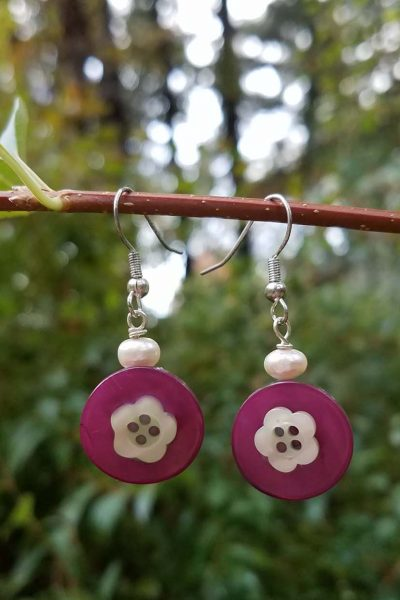 DIY Button Jewelry Earrings