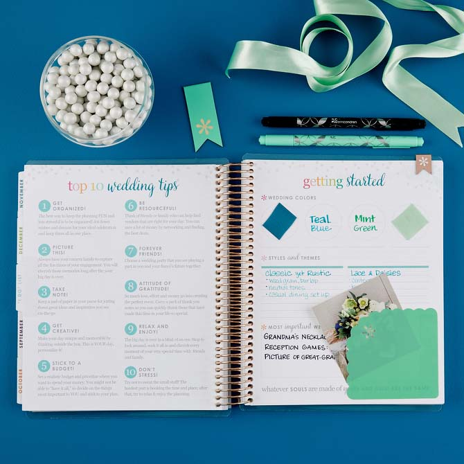 Erin Condren Wedding Planner