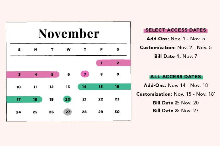 FabFitFun Select Member Dates