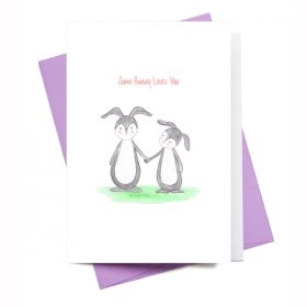 Gray Bunnies Greeting Card