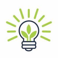 Green Energy Lightbulb Logo Design