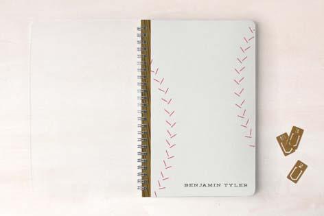 Cute School Suppies Baseball Notebook
