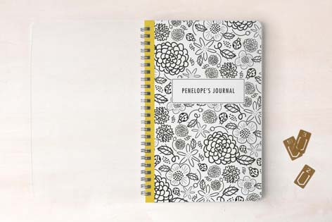 Cute School Suppies Floral Notebook
