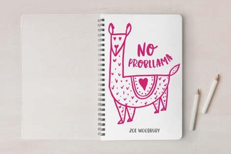 Cute School Suppies Llama Notebook