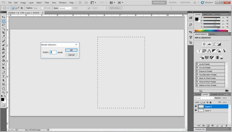 Photoshop Borders Step 3