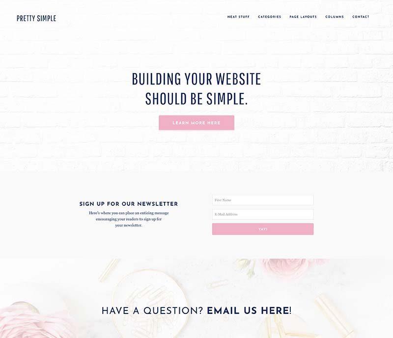 Minimalist Blog Design - Pretty Simple Theme
