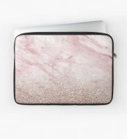 Rose Gold Office Supplies Laptop Sleeve