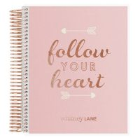 Rose Gold Office Supplies Notebook