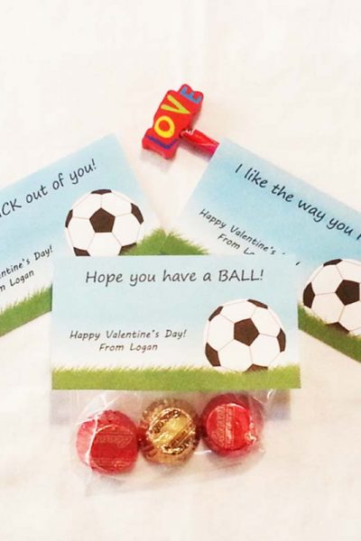 Soccer Valentine Printable Featured
