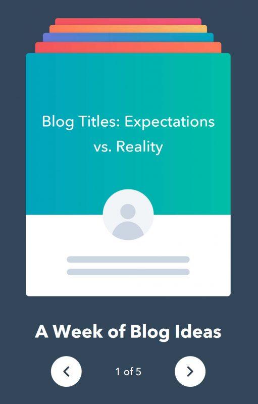 blog title generator hubspot