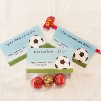 Soccer Valentines and Basketball Valentines Printables